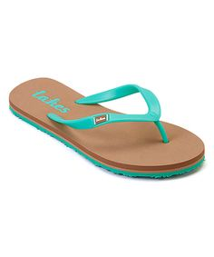 64db8cfaf5ba Look at this Green Skinny Dipper Flip-Flop on  zulily today! Skinny Dippers