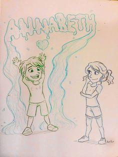 Aww little Percy and Annabeth