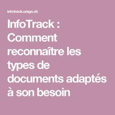 InfoTrack : Comment reconnaître les types de documents adaptés à son besoin