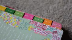 Great tips for organizing your Lilly planner!!! Back To School: How I Organize My Planner!