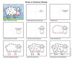 cute sheep drawing