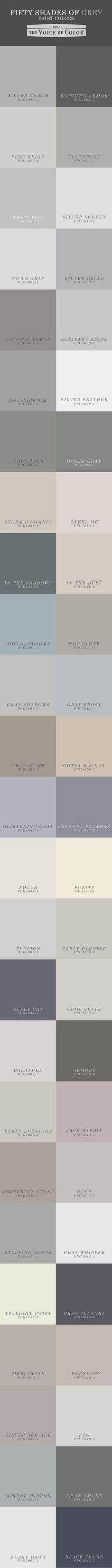 1000 images about 50 shades of grey paint on pinterest for Shades of neutral colors