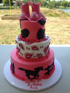 Pink Cowgirl Cake