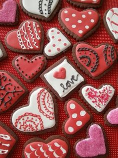 valentine brownie heart cookies - look yummy & is nice to see a darker colour!