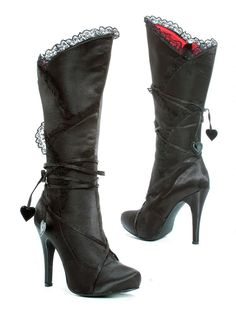 Gothic Valentine Boots from The Violet Vixen -- If they made these in my size, I'd be in trouble. High Heel Boots, Heeled Boots, Bootie Boots, High Heels, Ankle Booties, Dream Shoes, Crazy Shoes, Me Too Shoes, Cute Boots