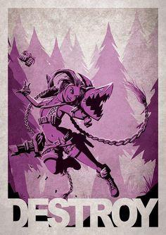 League of Legends (LOL) - 10 affiches sublimes et créatives de jeux vidéo