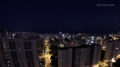 BENIDORM NIGHTFALL 4K  #timelapse #gopro #cityscape #benidorm #spain