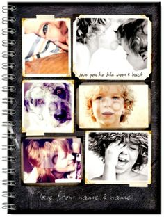 WWW.FUNKYPIGEON.COM - PERSONALISED Photo Upload Notebook - S.W.A.L.K Chalk Notebook - Scrapbook