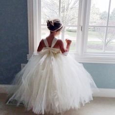Ivory Flower Girl Dress Shabby Chic Flowers Dress Tulle Dress Wedding Dress Birthday Dress Toddler Tutu Dress 1t 2t 3t 4t 5t Morden Wedding by MagicTulleCouture on Etsy https://www.etsy.com/listing/277521424/ivory-flower-girl-dress-shabby-chic