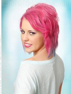 Volume Layers Fun Pink Style///love the cut, not to sure on the pinkness.
