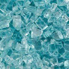 """Blue-Green 1/4"""" fire glass crystals #homeimprovement"""