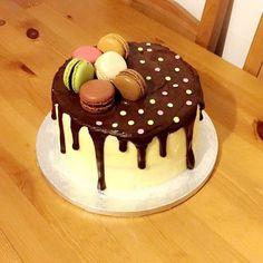 Chocolate drip cake. Deliciously yummy