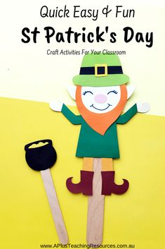 These St Patrick's Day Activities for kids, FREE printables and craft ideas will help you celebrate the patron Saint of Ireland and and Good Luck! St Patricks Day Crafts For Kids, St Patrick's Day Crafts, Fun Crafts, Holiday Activities, Craft Activities, St Patrick Day Activities, Irish Culture, Rainbow Birthday, Classroom Fun