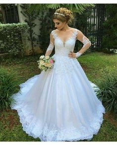 f3b47c78e1d 2019 Ball Gown Wedding Dresses Sexy Boho Long Sleeves White Lace Bridal  Dresses Price   Ends