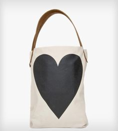 Two Sided Heart Tote Bag