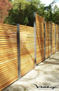 Gallery of gartenzaun sichtschutz modern nowaday garden – Terrasse Zaun Holz Garden Privacy, Garden Fencing, Backyard Fences, Backyard Landscaping, Landscaping Ideas, Modern Garden Design, Landscape Design, Modern Fence, Modern Wall