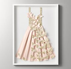 Hand-Folded Paper Butterfly Dress - Pink