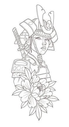 Geisha Tattoo Design, Tiger Tattoo Design, Japanese Tattoo Designs, Japanese Tattoo Art, Samurai Tattoo Sleeve, Sleeve Tattoos, Tattoo Studio, Desenhos League Of Legends, Hannya Mask Tattoo