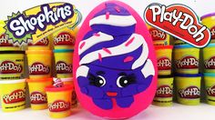 www.youtube.com/user/disneytoybox?sub_confirmation=1  DisneyToyBox presents a BIG Ultra Rare Shopkins Season 2 Surprise Egg with Toys Made of Play Doh! We have been having a BLAST making these GIANT Playdoh surprise eggs for you all. And we think this Shopkins surprise egg featuring Mary Meringue may be one of our best yet! #Shopkins #Plaudough #Surprise #Eggs