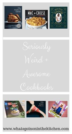 Check out this collection of weird, wonderful and awesome cookbooks. Make meals with famous rappers Coolio and Snoop Dogg, or meals from TV shows like Game of Thrones. If that's not for you, then try the Ultimate mac + Cheese Cookbook. Ultimate Mac And Cheese, Best Cookbooks, Mac Cheese, Snoop Dogg, Weird And Wonderful, All About Time, Bacon, Meals, Game