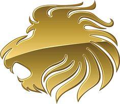 Leone d'Oro - illustrazione arte vettoriale
