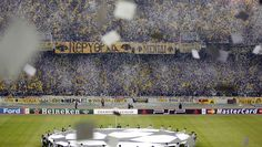 AEK Athens Champions League Football Fans, Champions League, Baseball Field, Athens, Spirit, Milan, Bread, Hobbies, Brot