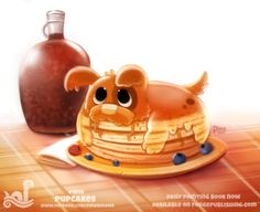 Daily Paint 1810# Pupcakes  Daily Paintings Book now available: http://ForgePublishing.com/shop  For full res WIPs, art, videos and more: https://www.patreon.com/piperdraws  Twitter • Facebook • Instagram • DeviantART
