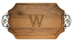 Walnut Selwood 12x18 inch Monogrammed Cutting Board