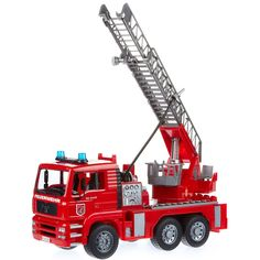 Bruder Man Fire Engine with water pump, light and sound. The ultimate fire truck toy! #toys