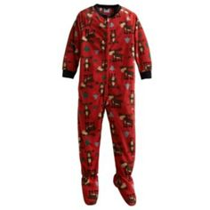 Up-Late Moose Footed Pajamas - Boys 4-10