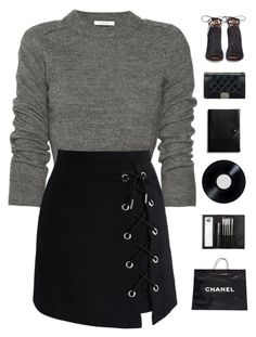 """""""Sunday Funday"""" by genesis129 ❤ liked on Polyvore featuring Carven, Chicwish, Gianvito Rossi, Chanel, Coach, Sephora Collection and vintage"""