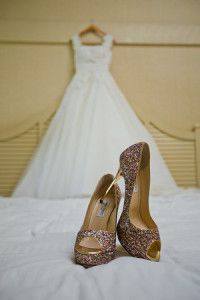 The Jimmy Choo shoes and the Dress