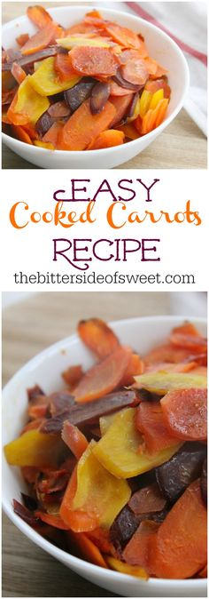 Easy Cooked Carrots Recipe | The Bitter Side of Sweet #carrots