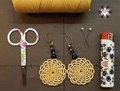 Tutorial: Flower macrame earring