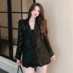 Dress Suits, Dresses, Ulzzang Fashion, Korean Outfits, Fur Coat, Women's Fashion, Street Style, Blazer, Girls