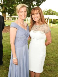 Sophie, Countess of Wessex, and Jane Seymour attend the Duke of Edinburgh Award 60th Anniversary Diamonds are Forever Gala at Stoke Park on June 9, 2016 in London, England.