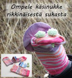 Ompele käsinukke rikkinäisestä sukasta Barbie, Crochet Hats, Knitting Hats, Barbie Dolls