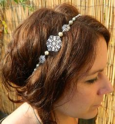 Head band mariage estampe