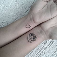 The owl beHind my ear! #small_tattoo_on_wrist