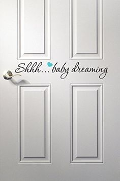 Baby Dreaming Wall Decal Quote - Nursery Room Decor - Nursery Wall Decals - Baby Room Decoration Vinyl (8inches) Pinkie Penguin http://www.amazon.com/dp/B014WXPB2W/ref=cm_sw_r_pi_dp_K6OKwb1RQDTEY