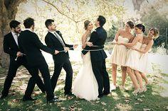 funny wedding party photo