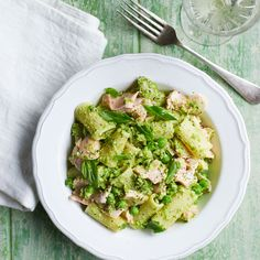 Peas make a delicious pesto, combined with salmon in this dish it's sure to go down well.