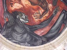"jose clemente orozco | Man of Fire"", Mural by José Clemente Orozco"