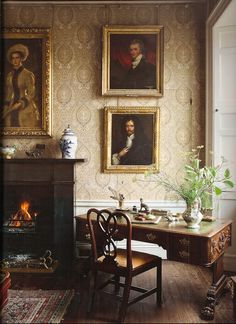 Corner of the 19th c. gallery at Balcaskie from The Scottish Country House, photography by James Fennell