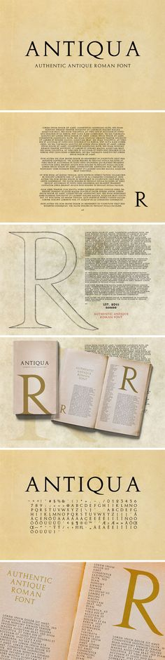 Ad: Antiqua - Antique Roman Font - Serif Fonts   #sponsored $12