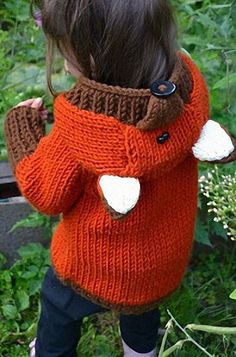 Baby Knitting Patterns Hoodie Knitted Fox sweater pattern (Currently osts under for this pattern downlo. Knitting For Kids, Free Knitting, Knitting Sweaters, Knitting Ideas, Free Baby Knitting Patterns, Beginner Knitting Projects, Start Knitting, Sewing Projects, Fashion Kids