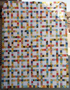 Lucky Square Castle Peeps Quilt Top by Pitter Putter Stitch, via Flickr