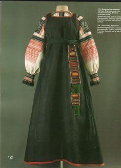 The history of Russian national sundress Folk Fashion, Fashion Fabric, Vintage Fashion, Medieval Costume, Folk Costume, Historical Costume, Historical Clothing, Fashion Design Classes, Russian Fashion