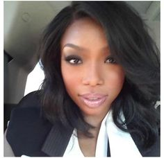 Brandy @Brandy Waterfall Waterfall Norwood on IG - makeup & hair on point!
