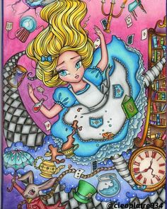 Red Riding Hood by Hannah Lynn Page Hannah, Hannah Lynn, Punk Disney, Disney Art, Colouring Pages, Coloring Books, Canvas Painting Tutorials, Fairy Pictures, Cinderella